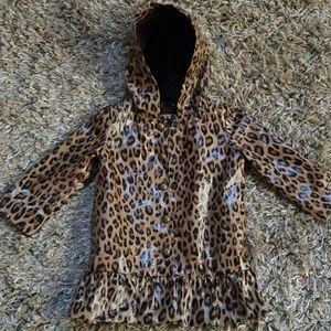 Animal print raincoat